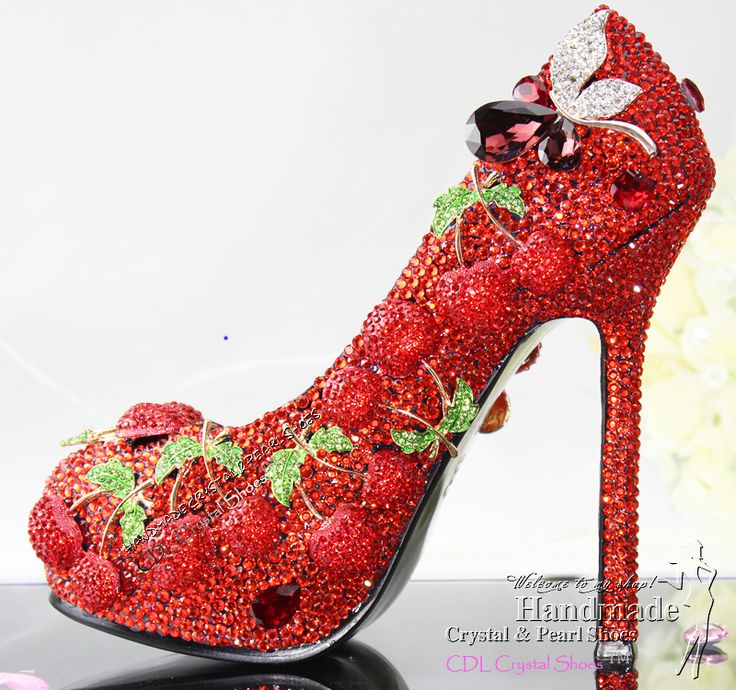 3 Inch Heel Unique Design New Women S Y Dress Shoes With Red Crystalirror 195 30