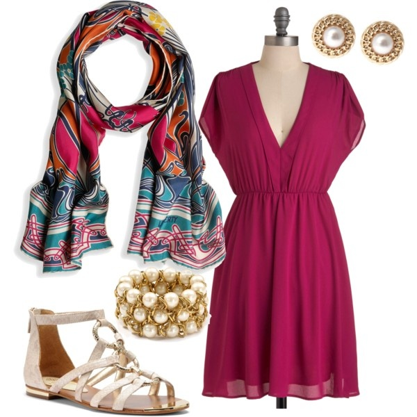 outfit. cute pink nautical flare. :)