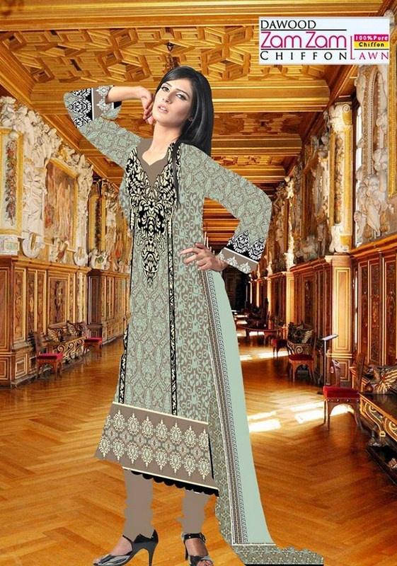 Dawood Textiles Zam Zam Lawn Dresses 2013 Volume 3 For Women