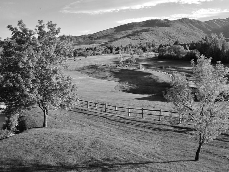 Wolf Creek Country Club from Wolf Lodge in Eden, Utah.  Photography by David E. Nelson, 2006