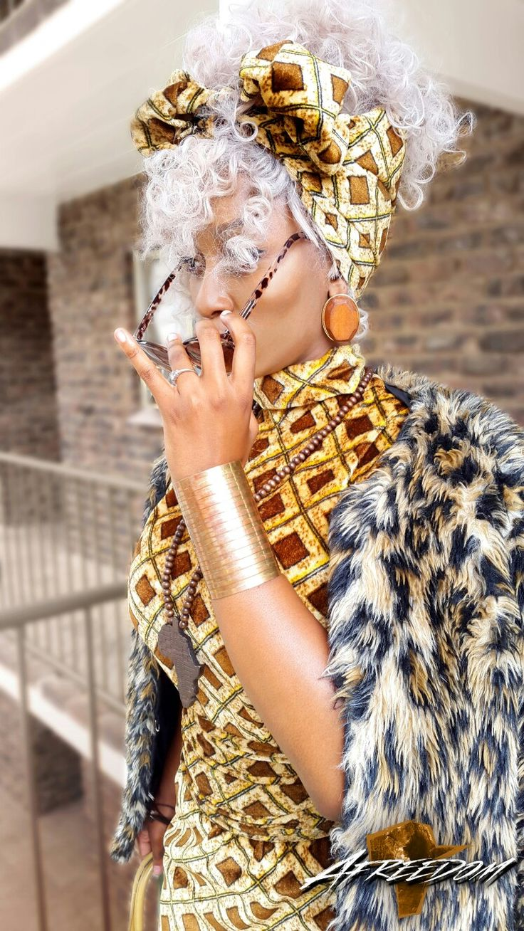 This is fashion by Afreedom. #African #Fashion #Women #Grey #Hair #BlackGirl #Afro #Afreedom