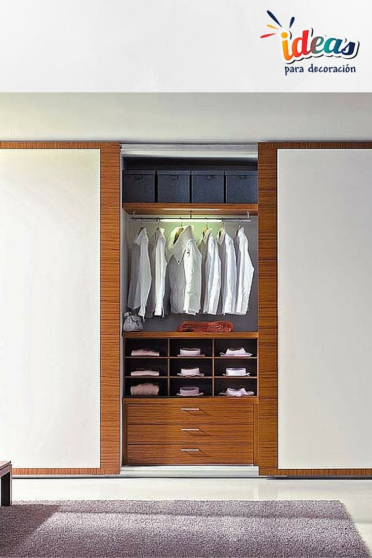 9 best Vestidores images on Pinterest   Dresser in closet, Bedroom ...