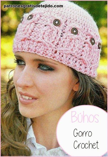 Mejores 111 imágenes de Crochet gorros en Pinterest | Sombrero de ...