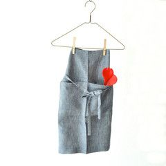 Midi Apron by Fog Linen & Medium Salad Servers by Tina Frey Designs