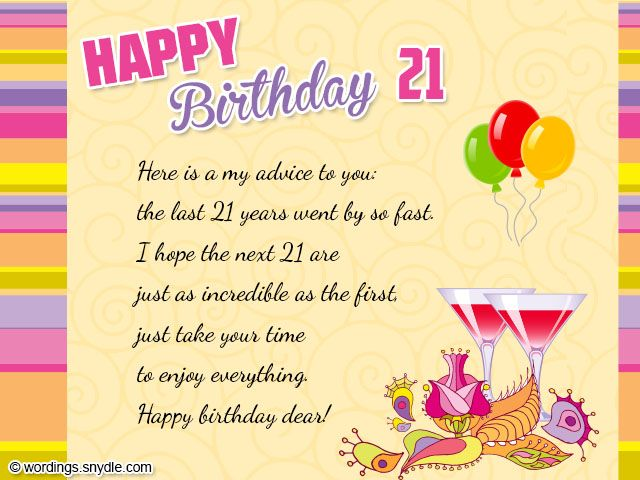 17 Best Ideas About 21st Birthday Wishes On Pinterest
