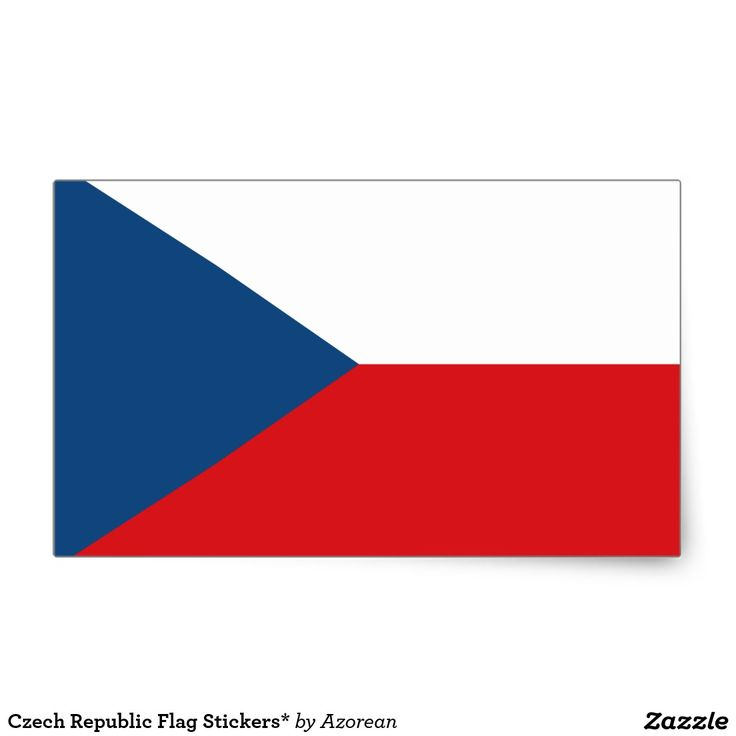 Czech republic flag stickers rectangular sticker