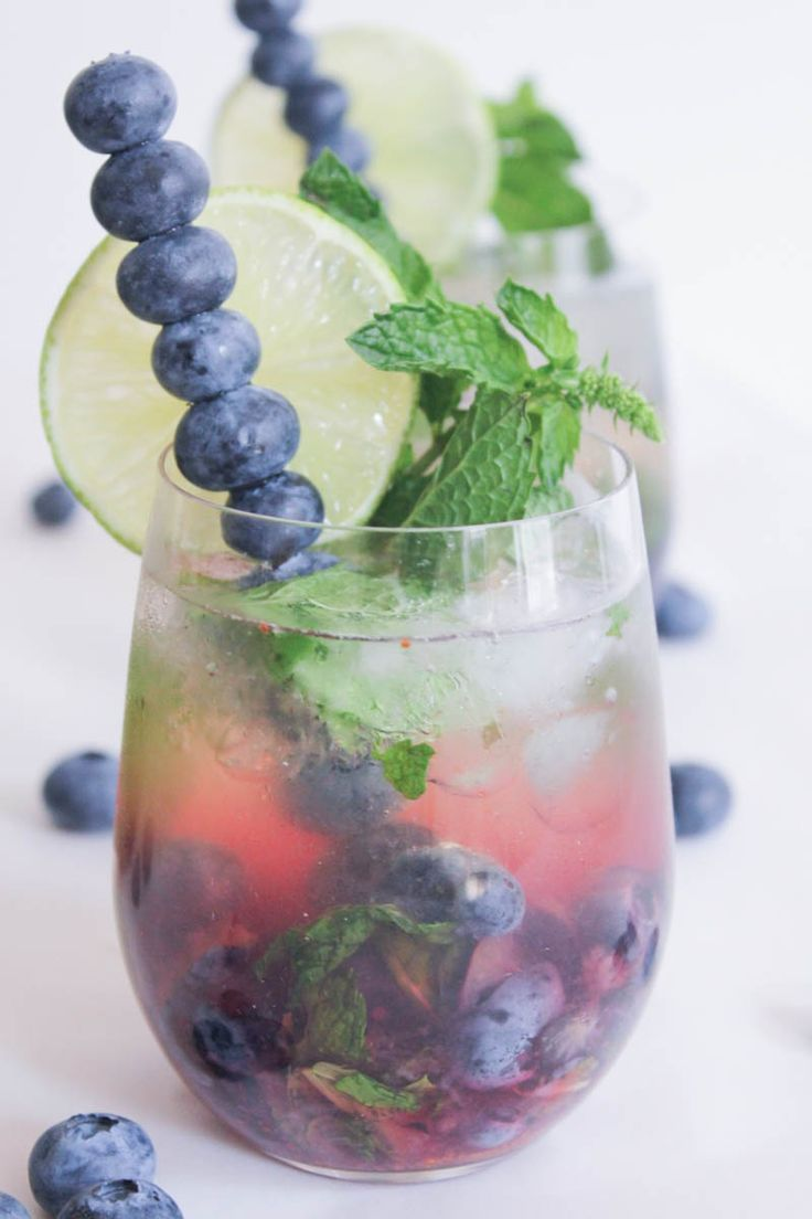 Blueberry Mojito Royale. The perfect summer sip. #SummerSoiree #cocktail