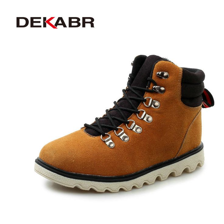 Handmade Men Boots Male Casual Suede Leather Shoes Quality Snow Boots Fashion Winter Warm Plus Fur Warm Ankle Boots For Men