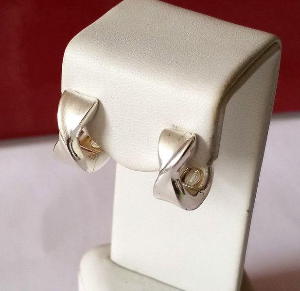 Vintage Ohrhänger - Creolen Ohrringe Silber 925 Vintage Design SO195 - ein Designerstück von Atelier-Regina bei DaWanda