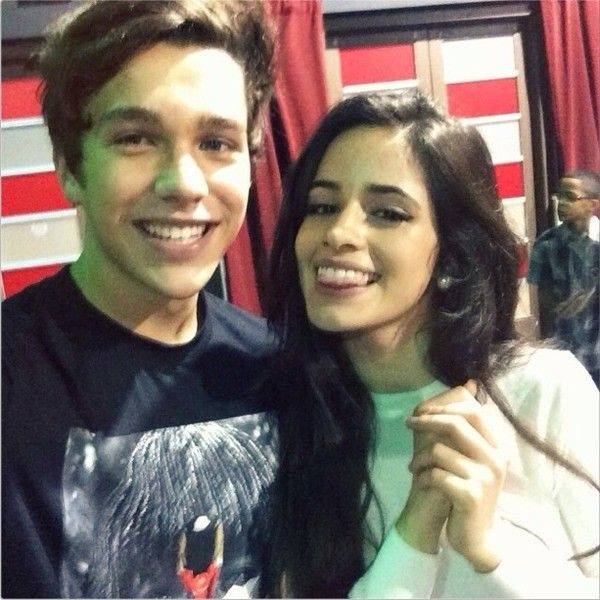 Couple Alert Are Austin Mahone and Camila Cabello Dating? ❤ liked on Polyvore featuring couples, austin mahone, people, ausmila and camila cabello
