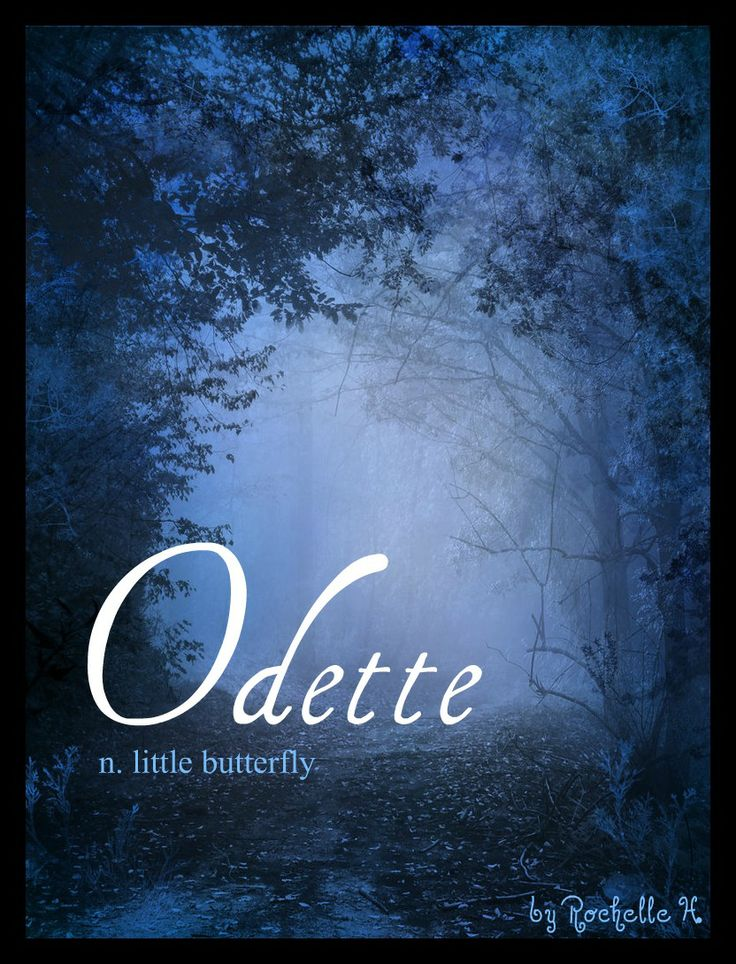 Odette / Portuguese: Little Butterfly. I've heard it is French and means wealth.  The French spelling is Audette, the English version of the French spelling is Odette, while the Spanish spelling is Odete.