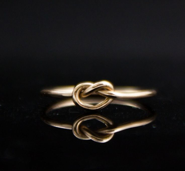 14k gold ring solid gold knot promise ring