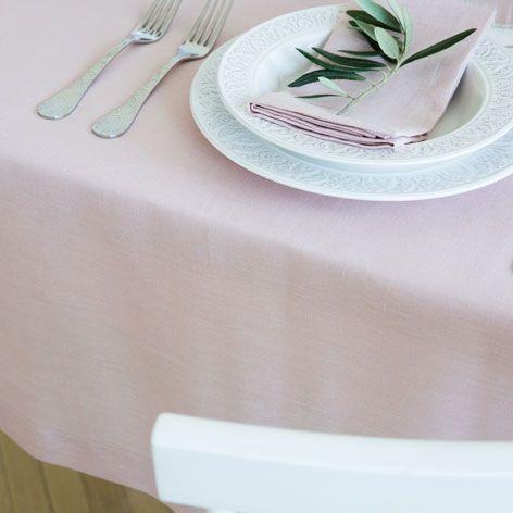 Mantel y servilletas lino color rosa - Manteles y Servilletas - Mesa | Zara Home España