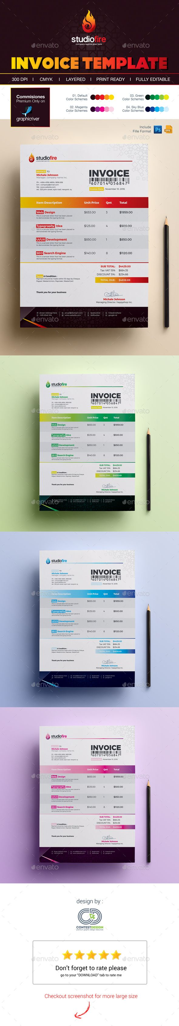 Best Invoice Templates Images On Pinterest Invoice Template - Proposal invoice template