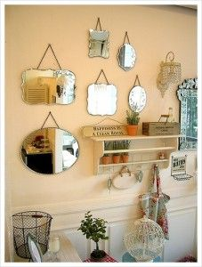 Vintage Mirrors Perfect For Boring Bathroom Upper Wall