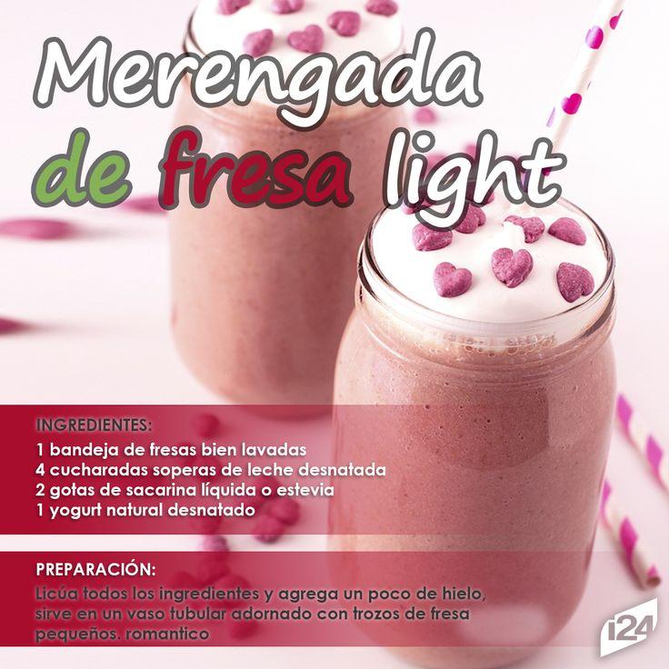 Deliciosa opción saludable para refrescarte #Merengada #Receta #Light #Fitness