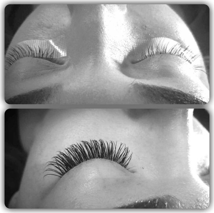 Before and after silk eyelash extensions