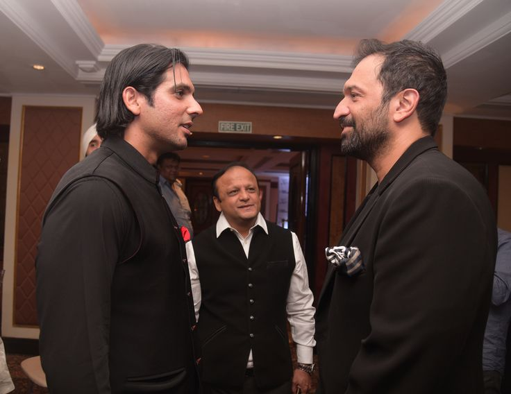 Zayed Khan, Asif Bhamla and Atul Kasbekar at the 20th anniversary celebrations of Bhamla Foundation