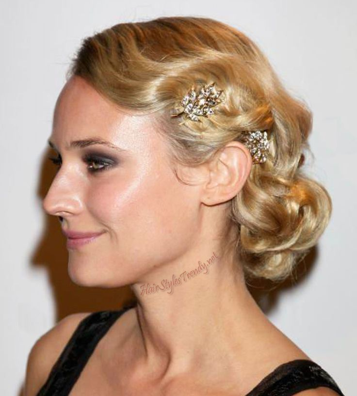Classic Bridal Updo Hairstyle : 53 best bridal hair: vintage images on pinterest