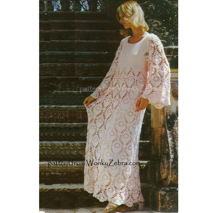 Crochet Dress Pattern PDF 139 Vintage Evening Dress from WonkyZebra. $3.00, via Etsy.