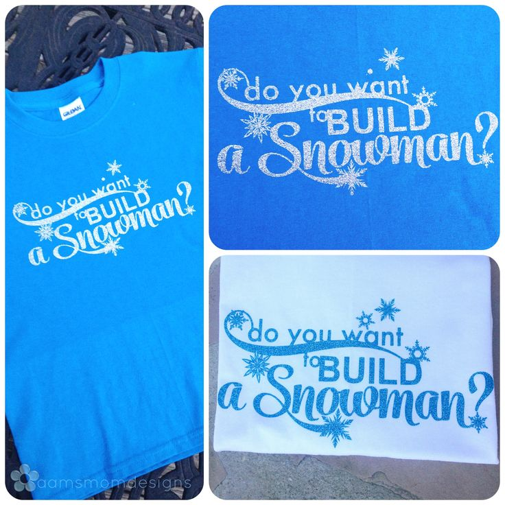 Disney's Frozen has captured our hearts! Here's an adorable interpretation for any T-shirt, children and adults alike!  This custom design is high quality heat transfer vinyl and is applied with a professional heat press, one shirt at a time.
