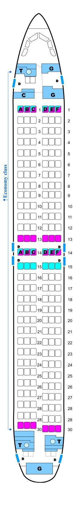 Seat Map Malev Hungarian Airlines Boeing B737 800NG Config. 2