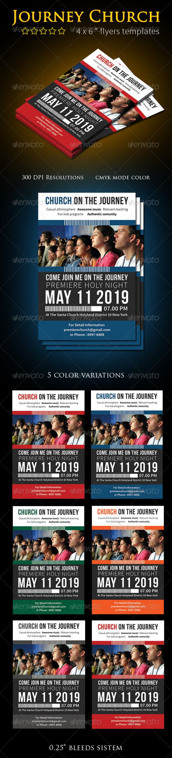 Journey Church Flyers — Photoshop PSD #church template #church journey • Available here → https://graphicriver.net/item/journey-church-flyers-/6762160?ref=pxcr