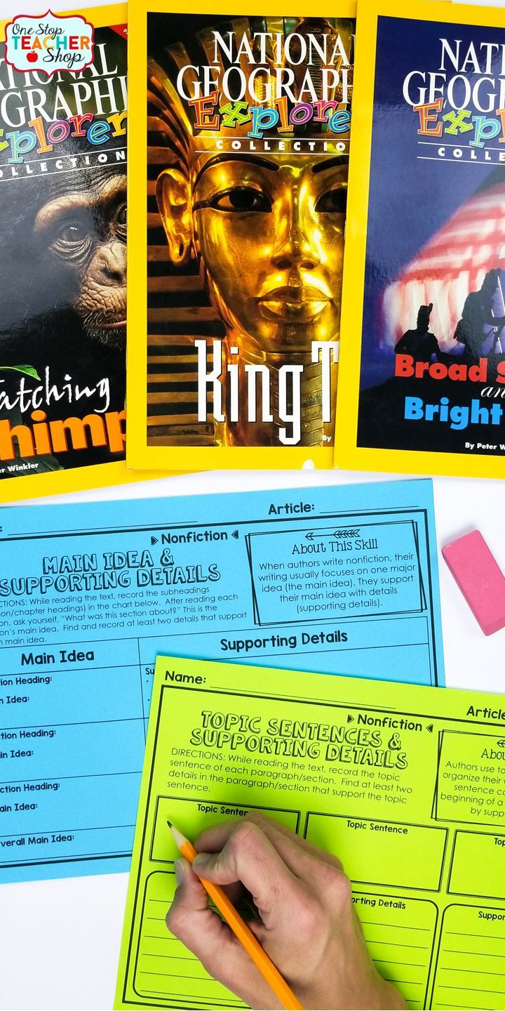 Fiction and Nonfiction Reading Activities for the whole year! Perfect for Reading Centers & Guided Reading.  Pair these Fiction and Nonfiction Reading Graphic Organizers with ANY text for a No-Prep Reading Activity. | 4th Grade Reading | 5th Grade Reading | 6th Grade Reading | Reading Strategies | Guided Reading Ideas | Main Idea & Supporting Details | Text Structure | Making Inferences | Context Clues | Theme | Compare & Contrast | Cause & Effect | Nonfiction Text Features