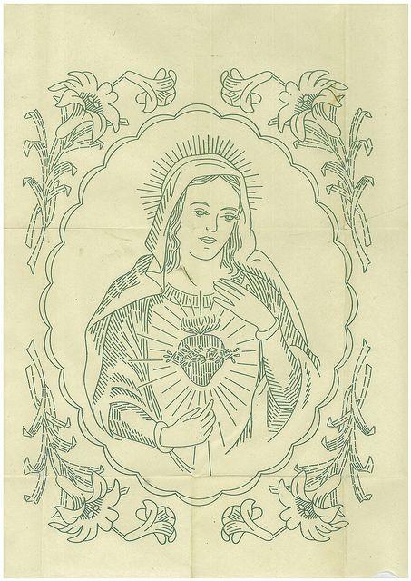 Virgin Mary Needlework pattern
