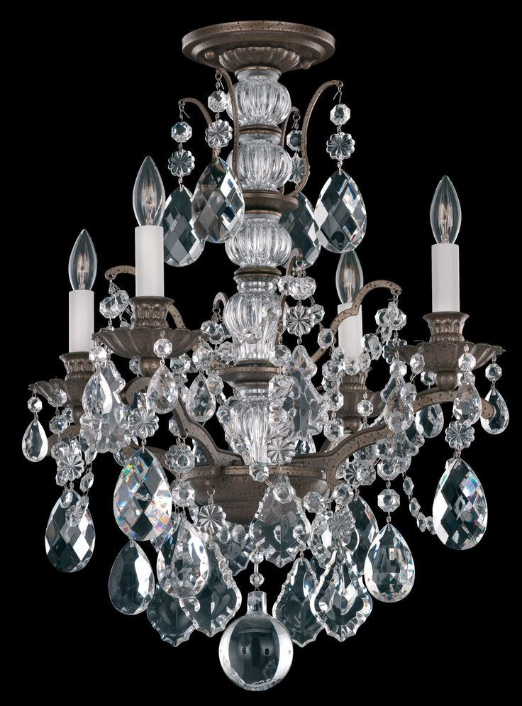 Bordeaux 4-Light Crystal Chandelier