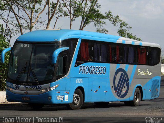 Ônibus da empresa Auto Viação Progresso, carro 6520, carroceria Marcopolo Paradiso G7 1200, chassi Scania K340. Foto na cidade de Teresina-PI por João Victor | Teresina-PI, publicada em 08/11/2014 23:41:22.