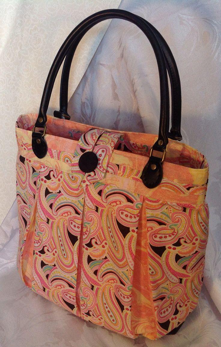 Leather handles bag.