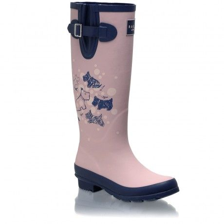 Cherry Blossom Dog, Long Wellie Boot