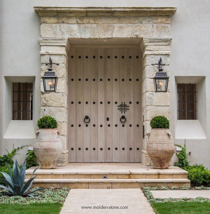 Mediterranean Exterior Of Home With Pathway Fountain: 25+ Best Ideas About Mediterranean Front Doors On