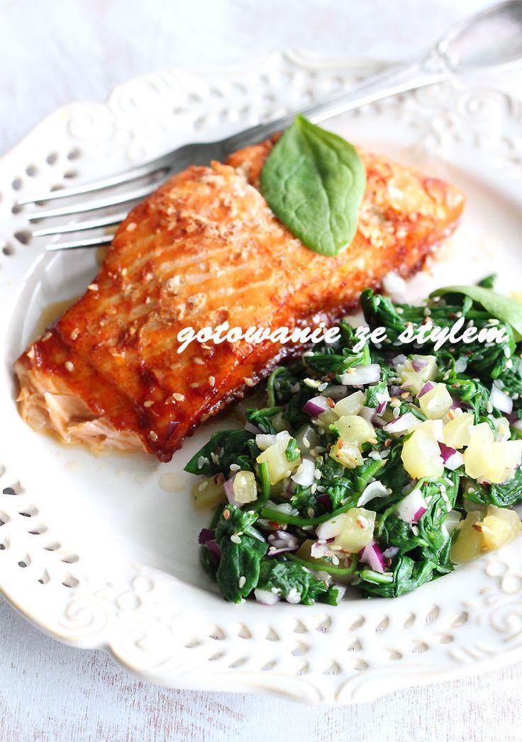 Salmon with sauce honey-soy with the addition of sesame | gotowanie ze stylem