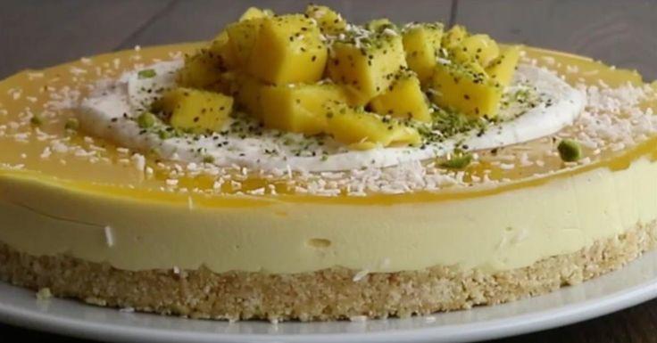 Zo fris, zo fruitig, zo licht...Kaastaart met Mango!