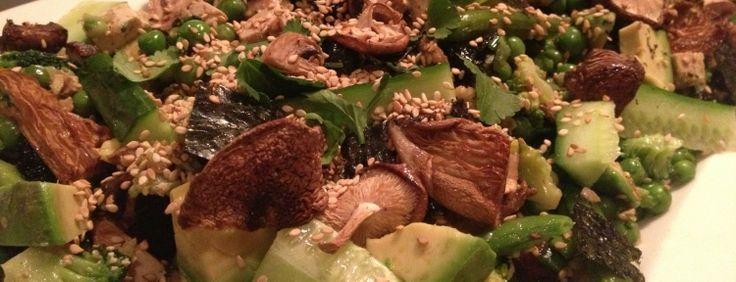 vegetarische sushi salade (bruine rijst)