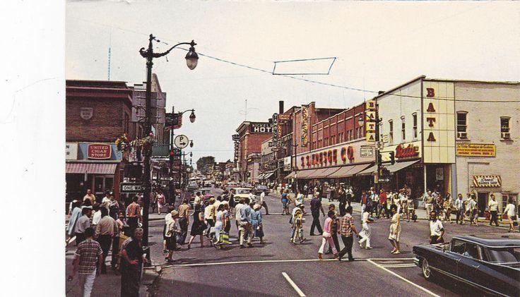 SUDBURY , Ontario, Canada, 50-60s ; Elm Street & Durham Street