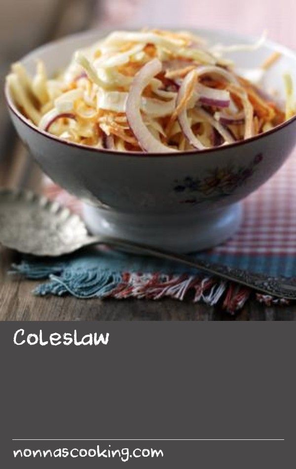 Coleslaw |      A simple recipe for a classic coleslaw, complete with homemade mayonnaise.
