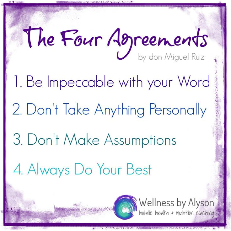 4 magnificent rules to live by. Thank you Don Miguel Ruiz and the Four Agreements.