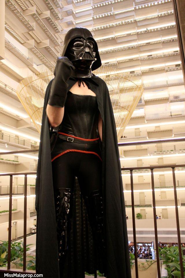 Creative Star Wars Costumes - femme Darth Vader, my first attempt.