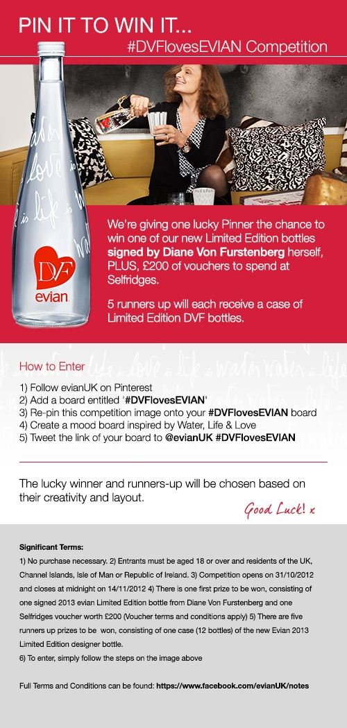 It's time to get creative #pinittowinit #DVFlovesEVIAN DVF