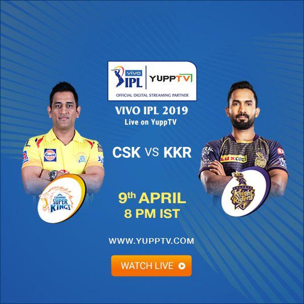 Pin by YuppTV on VIVO IPL 2019 | Chennai super kings, Movie