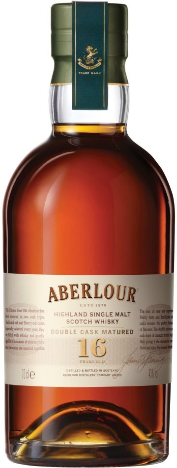 Aberlour 16 A completely perfect speyside - they say it's the black lichen that is all over the distillery.