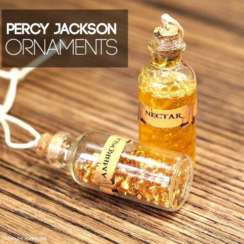 DIY Percy Jackson Nectar and Ambrosia Ornaments