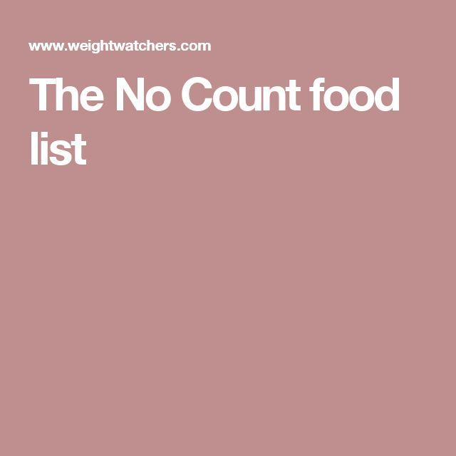 Weight Watchers No Count Food List