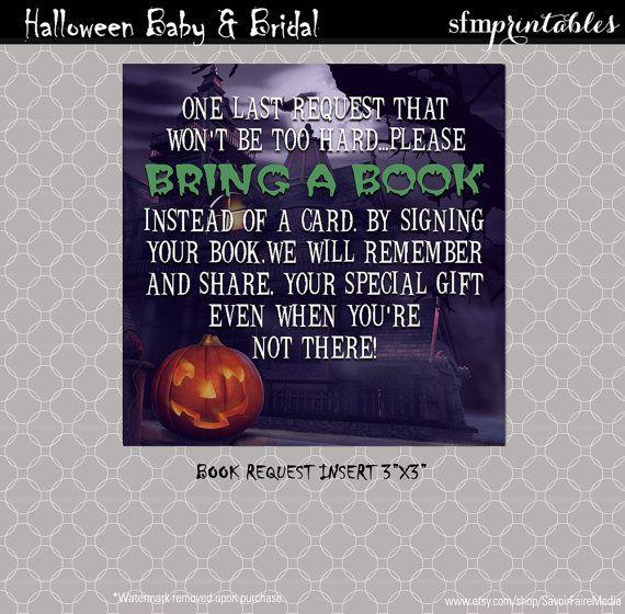 halloween baby shower book request insert couples coed shower spooktacular frankenstein - Halloween Baby Games