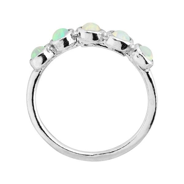 608bc5635 Silpada 'October' Celebration Collection Five-Stone Created Opal Ring in  Sterling Silver - October Celebration Collection Five-Stone Ring: Celebrate  all ...