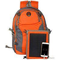 SUNLAST L005 Orange Laptop Backpack with Solar Mobile Charger