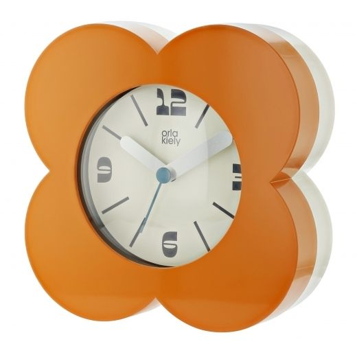 Flower Alarm / Mantel Clock - Papaya